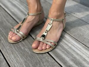 Russell And Bromley Gold Sandals