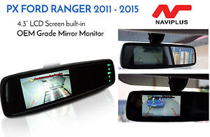 "PX Ford Ranger 2011-2015// 4.3"" LCD Rearview Mirror Monitor + Camera Kit"