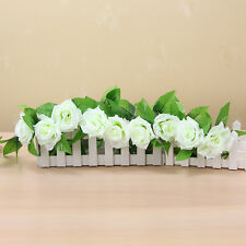 2X 8.2ft Artificial Silk Flower Rose Garland Vine Ivy Wedding Garden Decoration