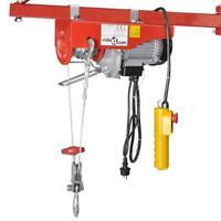 Palan à cable électrique d'atelier 100 / 200 kg avec poulie mouflage - 500 w