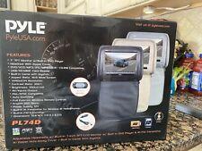 "Pyle PL74DBK 7"" Hi-Res Headrest Video Display Monitor Built-in DVD, USB, Remote"