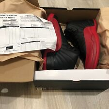 Nike Air Jordan 12 Flu Game Size 12 With Receipt XII Black Red Bred (Brand New)