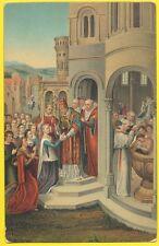 cpa BRUGES ILLUSTRATION HEMLING SAINTE URSULE à ROME PAPE BAPTÊME POPE BAPTISM