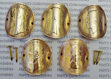 WALKING STICK BADGES GENUINE OLD COPPER PENNIES THE KINGS & QUEENS of ENGLAND -