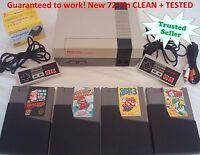 Nintendo NES Console System Bundle NEW PINS Game Lot Super Mario 1 2 3 Yoshi