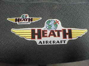 HEATH Aircraft Jacket Patch Set of Two 1920s - 1930s
