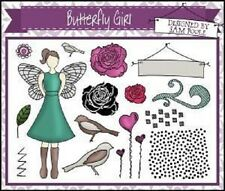 CREATIVE EXPRESSIONS UMOUNT Stamps BUTTERFLY GIRL Birds ROSES Hearts Sam Poole