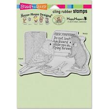 New Stampendous RUBBER STAMP cling House Mouse NEW PROVERB free us ship