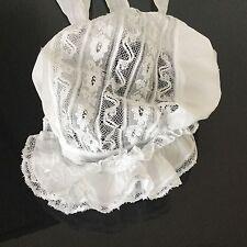 Bonnet Ancien En Dentelle Coiffe Antique French Lace Woman Bonnet