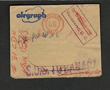 """1943 Canada DEAD MAIL Military Airgraph """"Field Post Office 488""""  Vancouver F-VF"""