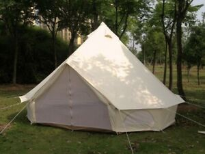 3M 4M 5M 6M Oxford Bell Tent Glamping Waterproof Camping Teepee Tipi Tent