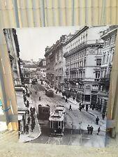 RIPRODUZIONE ANNI '70 SU CARTA FOTOGRAFICA FOTO ANTICA ROMA 1922 VIA DEL TRITONE