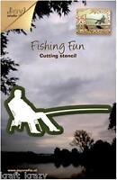 JOY CRAFTS DIE CUTTING CRAFT STENCIL SITTING FISHERMAN FISHING ROD 6002/0153