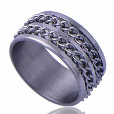 Special Men's White GF Stainless Steel  link Band Ring Size 10 Fashion