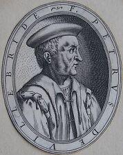 F. PETRUS DE VILLEBRIDE, (Malte ?) ; Portrait, gravure 17 ème,. Dimensions : 75