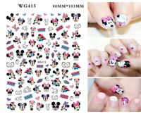 Nail Stickers Nail Art Decal Waterproof Cool Cute Cartoon Mouse Heart