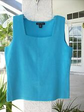 NEW Turquoise Blue Sleeveless Knit Top~M~Designers Originals~Drop Dead Gorgeous