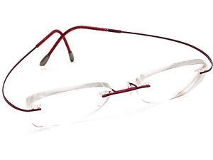 Silhouette Women's Eyeglasses 7799 Burgundy Rimless Frame Austria 46[]17 130