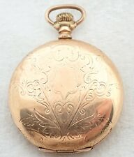 21J Gold Filled Hunter Pocket Watch Antique 16S Hampden Wm Mckinley 21 Jewel