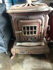 black cast iron vintage stove