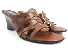 Franco Sarto Caucus Women's sandals Size 9 M Brown Ginger Leather Slides