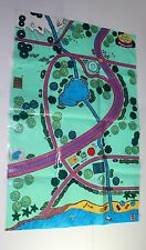 Polly Pocket Vintage Pollyville Town Mat Mattel 90s 36 x 24 inches USED