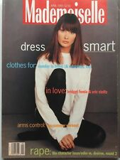 YOUNG CARLI BRUNI April 1993 MADEMOISELLE Magazine BRIDGET FONDA & ERIC STOLTZ