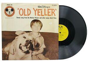 1958 Disneyland Records Old Yeller Mickey Mouse Club 78rpm EP Vinyl DBR-76 VG+