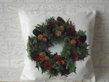 Kissenhülle, Kissenbezug, Dekokissen, Weihnachten, Advent Kranz 40x40 cm