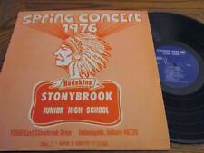 1976 Spring Concert Lp~Stonybrook Middle Junior High School~Indianapolis/Warren