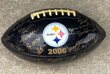 2006 Pittsburgh Steelers Autographed Signed Football Roster Team Facsimile