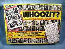 1985 WHOOZIT? Vintage Challenging Strategy Picture Trivia Game NEW / SEALED