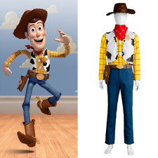 Toy Story 4 Cosplay Woody Cowboy Costume Outfit Adults Uniform Hat Full Set