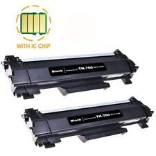 2PK TN760 Toner for Brother HL-L2370DW L2350DW DCP-L2550D MFC-L2750DW L2710DW