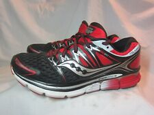 Saucony Triumph ISO Mens Sz 9 Running Shoes Black / Red/ Silv S20262-2 No Insole
