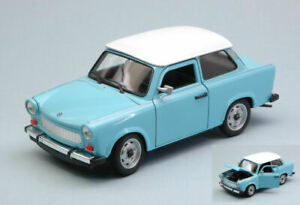 Model Car Scale 1:24 Trabant 601 diecast vehicles road collection Blue