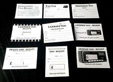 3 PASTIGLIE SPESE INCASSI TAXI - 10 disegni differenti, 60 reciepts in totale