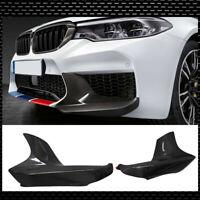 For BMW F90 M5 2018-UP Carbon Fiber Front Bumper Splitters Corner Protect Lip
