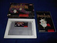 Final Fantasy III 3 Game Complete Super Nintendo SNES CIB