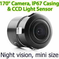 CCD Waterproof Night Vision Car Reverse Camera Rear View Parking Flush Drilling