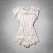 NEW Abercrombie & Fitch Women's Lace Romper White M Medium A&F $68