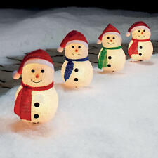 Snowmen Pathway Lights Christmas Holiday Outdoor Yard Lighted Snowman Decor