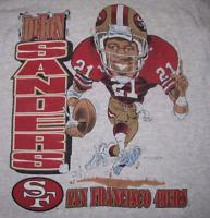 Vintage Deion Sanders 49ers San Francisco T-shirt Tee S M L 234XL PP1055
