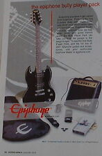 2002 Epiphone E-Series Bully guitar,Studio 10S amp,bully player pack print Ad