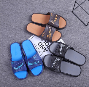 Indoor Shower Bath Slippers Non-Slip Bathroom Sandals Shoes Men