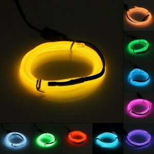 Flexible LED EL Wire Neon Light Car Auto Party Rope Tube with 12V Inverter