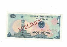 1985 VIETNAM SPECIMEN P-93s 10 DONG BANKNOTE OVERPRINT SPECIMEN CRISP AU