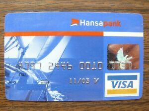 Estonia Estonian Hansapank VISA Credit Card Expired 11/2003