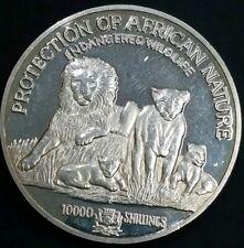 Rare Somalia 1/2 Kilo .999 Fine Silver Lion 89 MM 10000 Shillings Franklin Mint