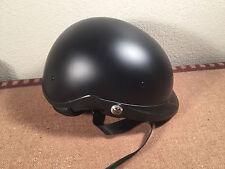 Bell Racing Adult Pit Boss Matte Black Half Helmet Street XS/S fold down glasses